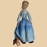 Mid 19th C Cloth Doll