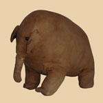 Late 19th C Amish Cloth Elephant