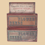 Late 19th C Philips' Seeds Boxes