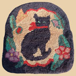 Late 19th/Early 20th C Cat Chair  Rug