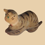 19th C Theorem Velvet Cat Rattle