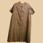 1850's Brown Calico Infant Gown
