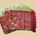 Late 19th C Turkey red Napkins