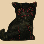Black Velvet Stuffed Cat