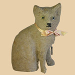 Late 19th C Cat Squeak Toy