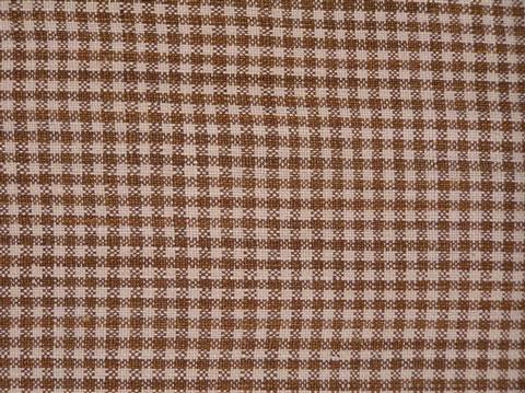 Captivating Brown Checked Homespun Linen Tablecloth