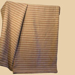 Early Natural/Copperas Stripe Homespun Linen Bed Case