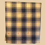 19th C Homewoven Plaid Wool Blanket