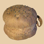 Early 19th C Brocaded Silk Pin Ball