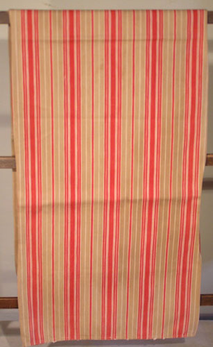Fabulous Red/Tan/Off-white Striped Bolster
