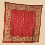 Late 19th C Turkey Red Bandanna