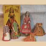 """Rosebud"" 19th C Paper Doll"