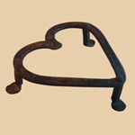 Early Pennsylvania Iron Heart Trivet