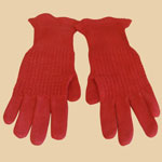 Old Red Girl's Gloves