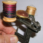 Unusual Double Spool Holder Sewing Clamp