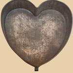 19th C Large Heart Cake Mold