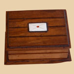 Old Treen Stamp Box
