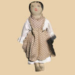 Early 20th C Cloth Doll