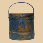 19th C Large Blue Firkin