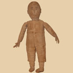 Rare 19th C Boy Cloth Doll