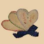 Victorian Hearts Pen-wipe