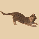 Late 19th C Composition Cat Candy Container
