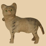 Late 19th Felt-covered Cat Squeak