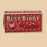 Rare Mint Busy Biddy Matches