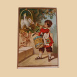 Old Trinket Box with Boy and Drum