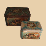 Old British Tea Tins with Cats