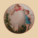 Old German Trinket Box with Cherubs and Egg