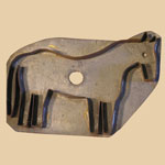19th C Tin Horse Cookie Cutter