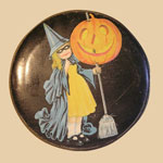 Halloween Tin with Tin Litho Decoration