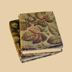 Pair of Late 19th C Cloth-Covered Books